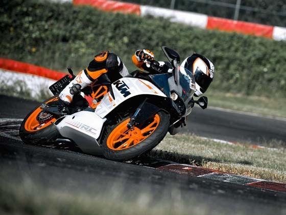 KTM RC 390 action shot