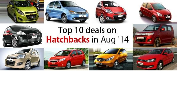 Top 10 deals on Hatchbacks in August 2014