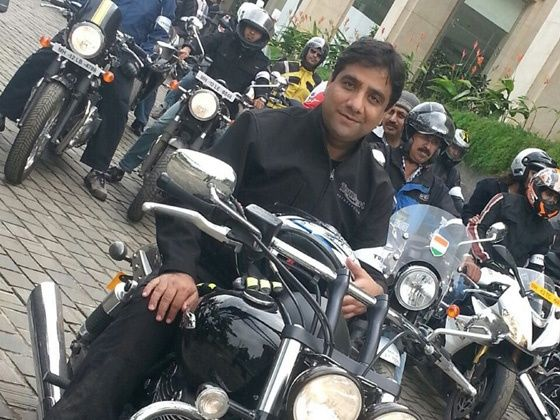 Vimal Sumbly at 2014 Triumph Motorcycle Independence Day ride