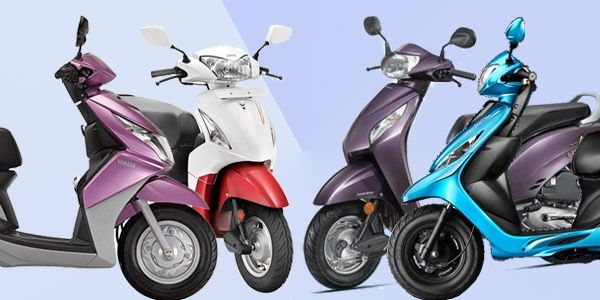 TVS Scooty Zest scooter comparison