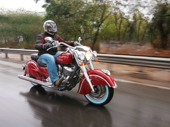 Indian Chief Classic action shot