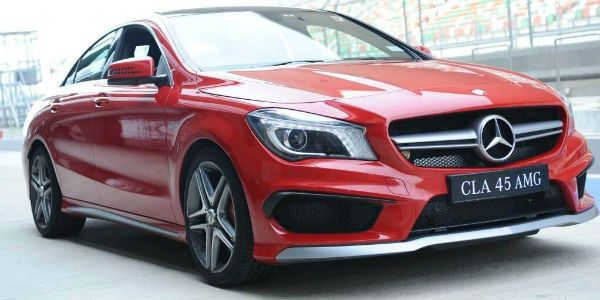 Mercedes-Benz CLA 45 AMG at the BIC