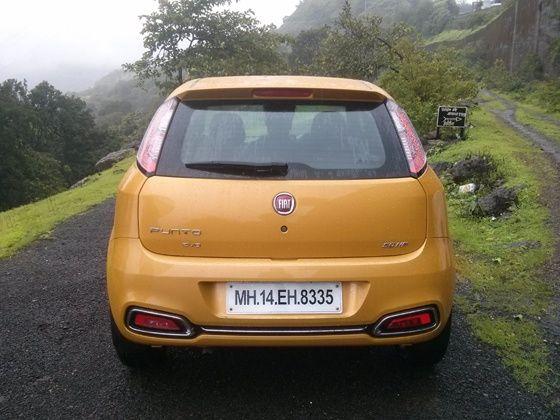 2014 Fiat Punto Evo rear