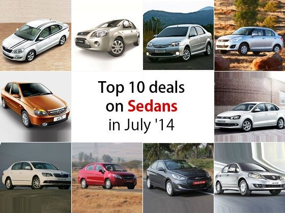 Top 10 Deals on Sedans in July 2014