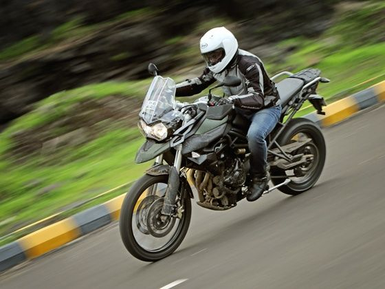 Triumph Tiger 800XC on road