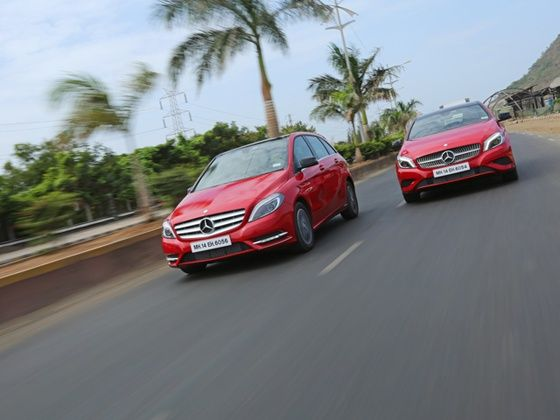 Mercedes-Benz A-Class and B-Class Edition 1 action shot