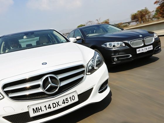 BMW 5 Series & Merc E-Class new head lamps