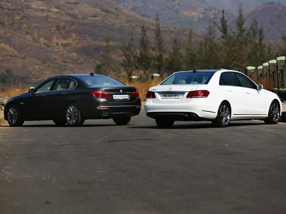 BMW 5 Series & Merc E-Class rear