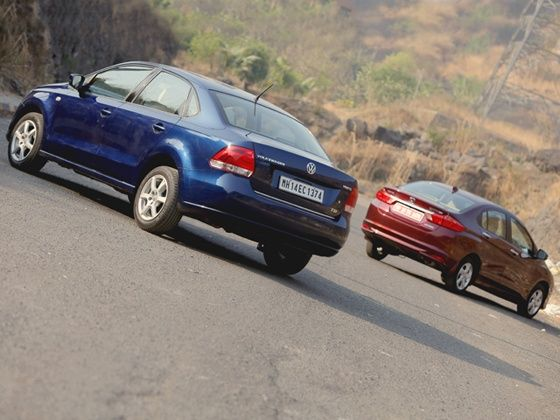 Honda City Volkswagen Vento Comparison Rear