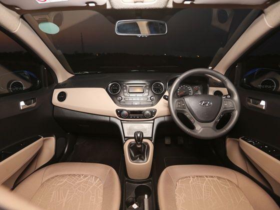 Hyundai Xcent interior shot
