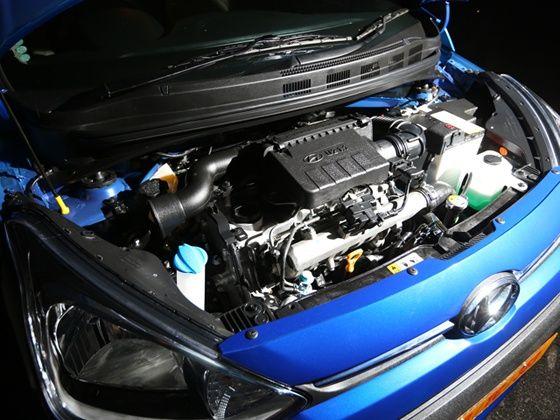 Hyundai Xcent engine shot