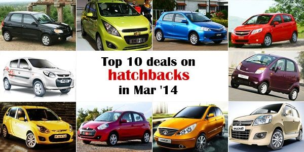 Top 10 deals on hatchbacks in March 2014