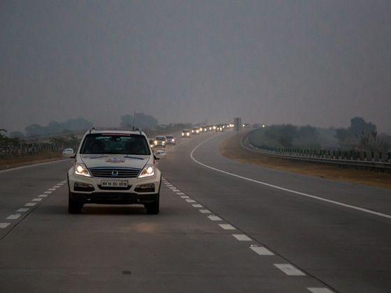Mahindra Adventure Tri-Nation Drive Delhi to Gorakhpur action shot
