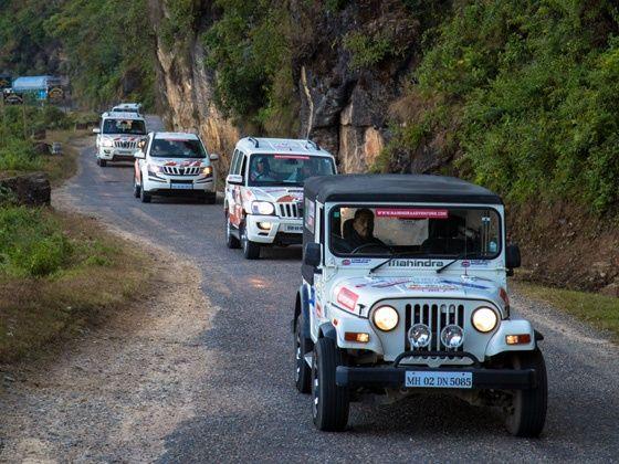 Mahindra Adventure Tri-Nation Drive Chalsa to Paro