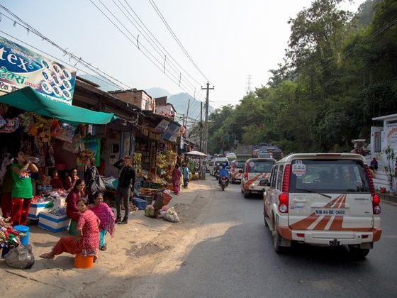 Mahindra Adventure Tri-Nation Drive Gorakhpur to Pokhara action shot