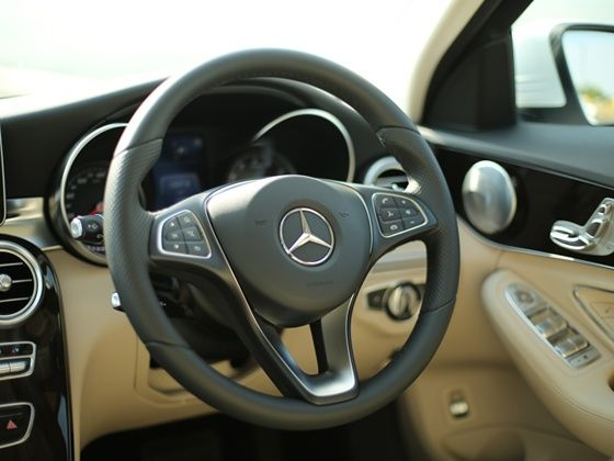 New electric steering system of the 2015 Mercedes-Benz C-Class