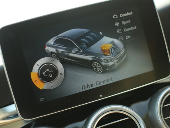 new 8.4-inch TFT screen of the new 2015 Mercedes-Benz C-Class