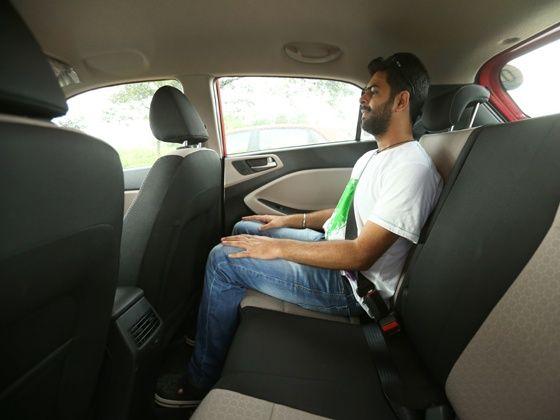 Hyundai Elite i20 rear seat