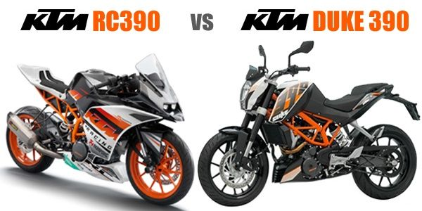 KTM RC 390 vs KTM 390 Duke