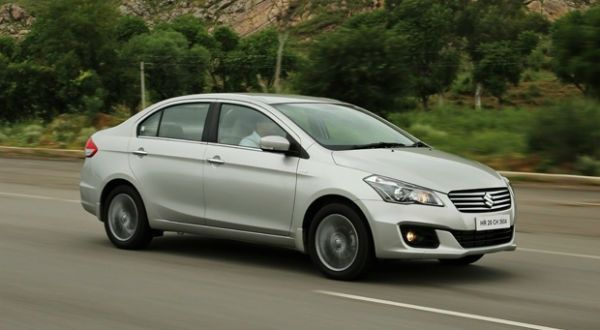 Maruti Ciaz front-three-quarters action shot