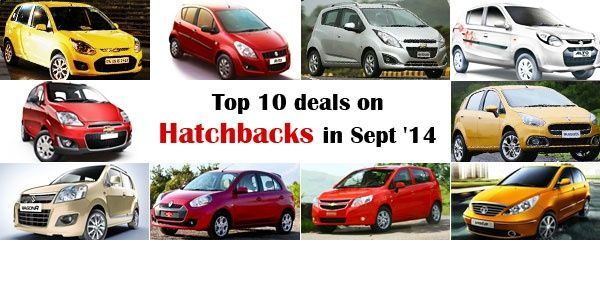 Top 10 deals on Hatchbacks in September 2014