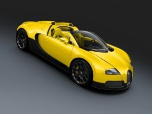 Bugatti Veyron Yellow Black Carbon Grand Sport