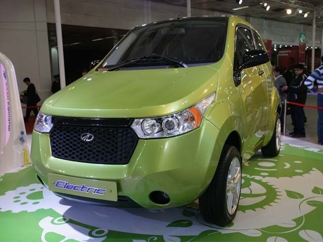 Mahindra Reva at the Delhi Auto Expo 2012
