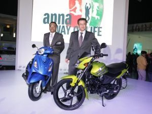 Suzuki Motorcycles at the 2012 Auto Expo
