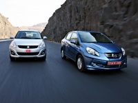 Honda Amaze and Maruti Suzuki DZire