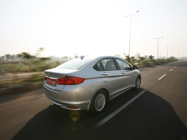 2014 Honda City Driving shot rear