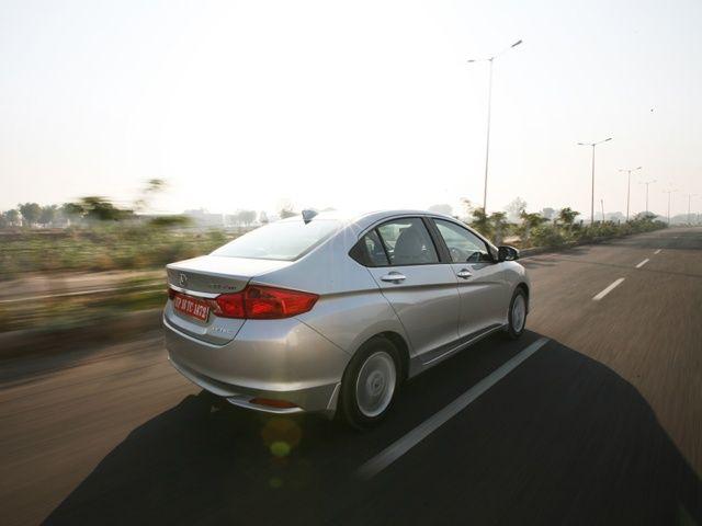 2014 Honda City Driving shot rear