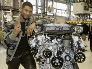 Usher at the AMG factory