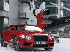 New Bentley Continental V8 makes flying debut over Munich