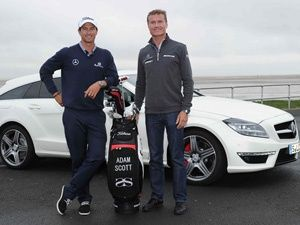 David Coulthard & Adam Scott with Mercedes-Benz CLS 63 AMG Shooting Brake