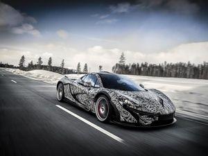 McLaren P1 winter testing